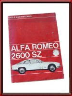 1965 Alfa Romeo 2600 SZ Zagato Owners Manual For Sale