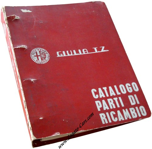 For Sale 1965 Alfa Romeo Giulia TZ Parts Catalog Catalogo