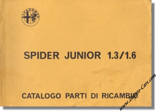 1972 alfa romeo spider junior 1300 / 1600 parts catalog | ar1993