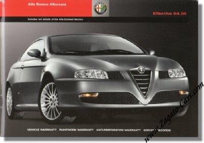 Alfa Romeo on 2004 Alfa Romeo Aftercare Manual