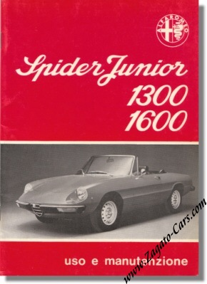 1976 alfa romeo spider junior 1300 and 1600 owners manual ar2336 rh zagato cars com manuel alfa spider alfa spider manual download