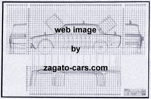 Alfa romeo 1750 berlina body blueprint with 4 views bpalf22 alfa romeo 1750 berlina body blueprint with 4 views malvernweather Gallery