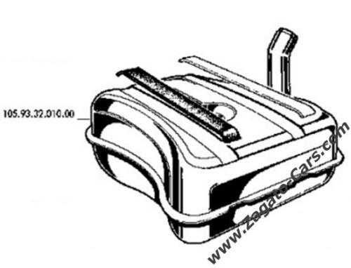 Original Fuel Tank For Alfa Romeo Junior Zagato 1300 105 93 32 010 00: 1972 Fiat 850 Parts Catalog At Daniellemon.com
