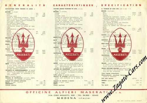 1957 maserati 3500 gt zagato sales sheet