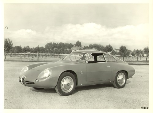 Vintage 1961 Alfa Romeo Giulietta SZ Coda Tronca Zagato Press Photo