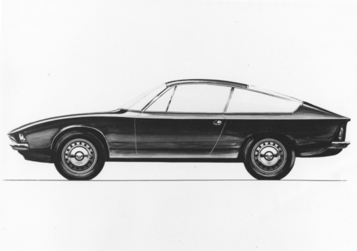 Alfa Romeo 2600 SZ original drawing