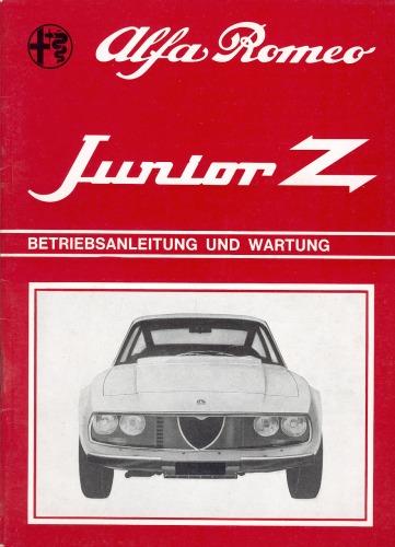Alfa Romeo Junior Z 1300 Owner's Manual