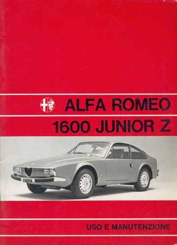 Alfa Romeo Junior Zagato 1600 Owner's Manual