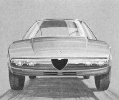 These drawings show the Junior Zagato as penned down by Ercole Spada in 1968. The basic design was only slightly altered by the addition of a front bumper