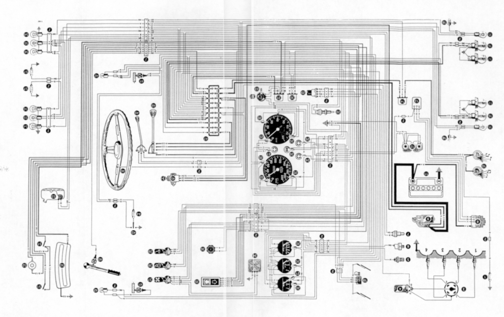 wiring diagram for the alfa romeo 1600 junior z. Black Bedroom Furniture Sets. Home Design Ideas