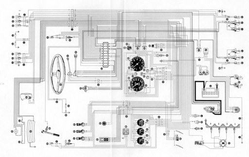 Wiring Diagram for the Alfa Romeo 1600 Junior Z