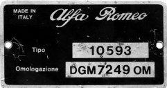 Homologation plate (9237 bytes)