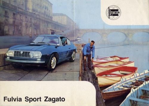 Vintage 1966 Lancia Fulvia Sport Zagato Sales Brochure