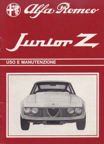 Alfa Romeo Junior Z 1300 Owner's Manual